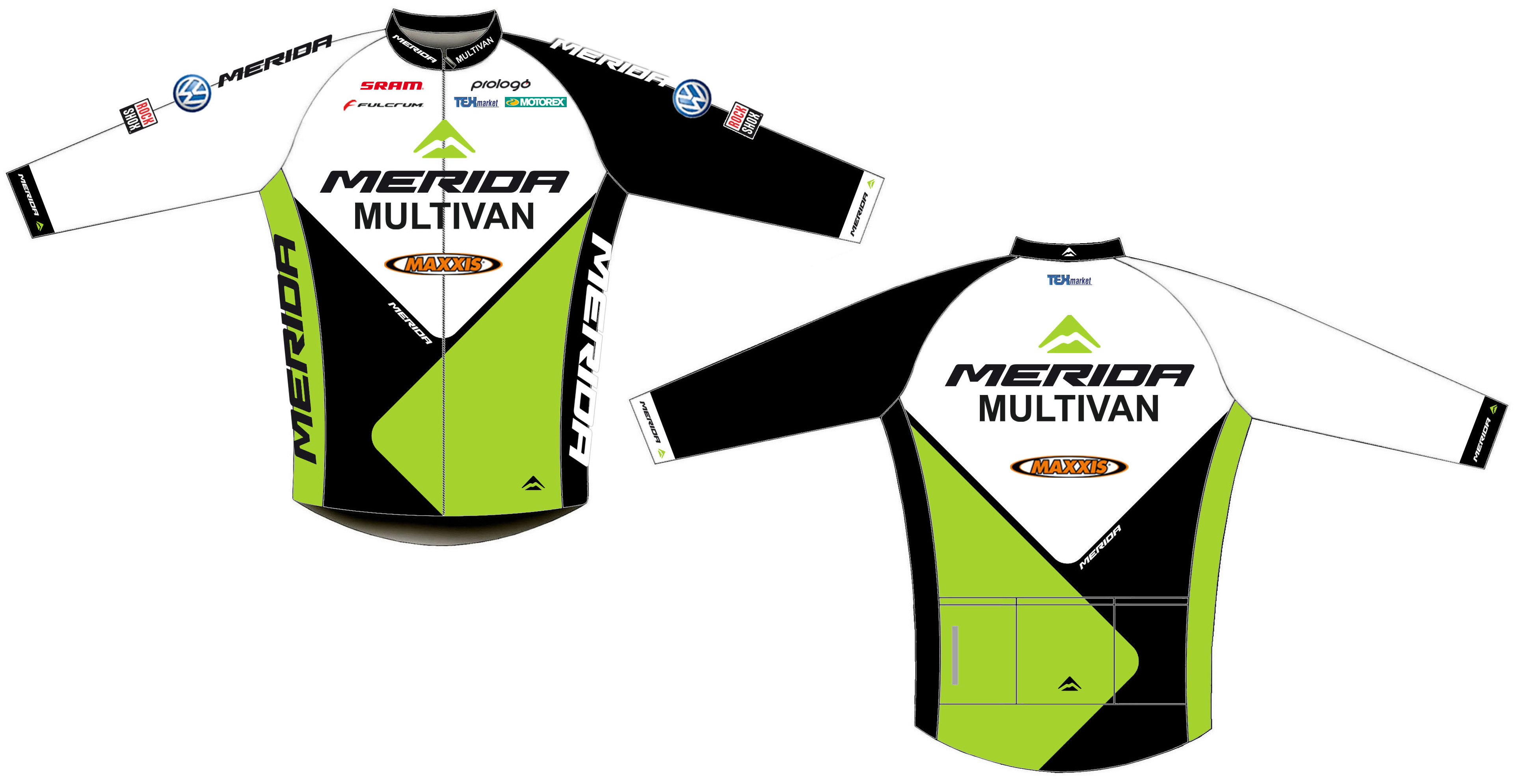 Mez MERIDA 2013 team hosszú XL thermo Nortex