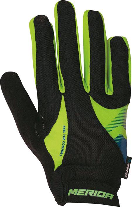Kesztyű MERIDA Sport III FF hosszú zöld/fekete
