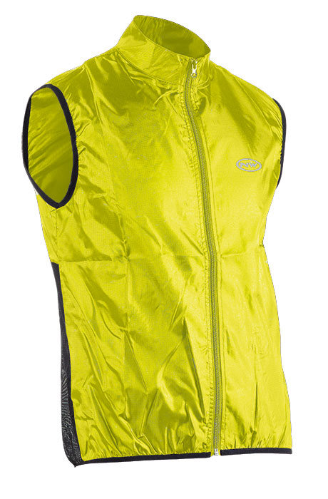 Mellény NORTHWAVE wind, JET, XL yellow fluo