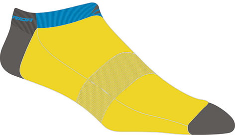 Zokni MERIDA sárga/kék női - 1130