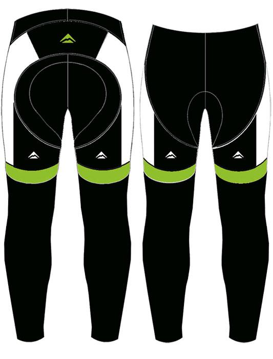 Nadrág MERIDA 2014 női hosszú zöld thermo , betétes zöld/fekete/fehér
