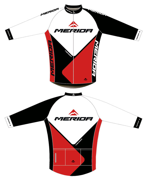 Mez MERIDA 2014 41RED hosszú S piros fehér/fekete Nortex(Thermo)