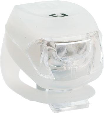 Lámpa BIKEFUN PIXIE hátsó 2 piros LED 2 funkció, szilikon, fehér