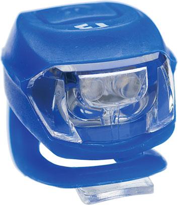 Lámpa BIKEFUN PIXIE hátsó 2 piros LED 2 funkció, szilikon, kék