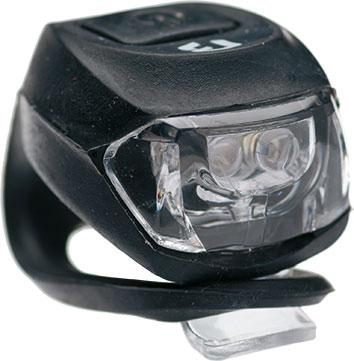 Lámpa BIKEFUN első Pixie fekete 2 fehér LED 2 funkció, szilikon, fekete