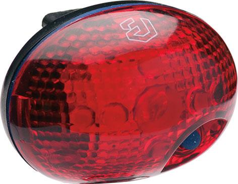 Lámpa BIKEFUN DINKY hátsó 1 piros LED 2 funkció