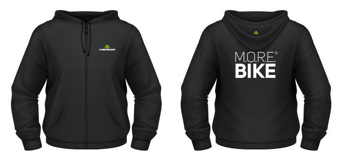 Pulóver MERIDA 2015 kapucnis XXXL fekete MORE végig zipzár