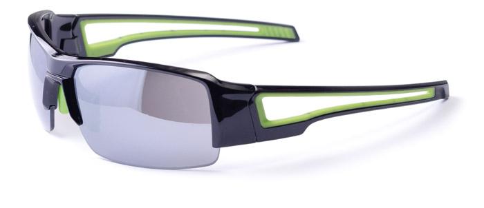 Szemüveg BIKEFUN CHIEF fekete/zöld #2 smoke lencse C3