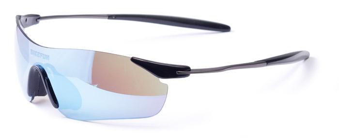 Szemüveg BIKEFUN PEAK fekete #2 smoke lencse, blue revo, C3