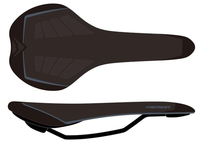 Nyereg MERIDA SPORT PRO fekete/szürke - 3997