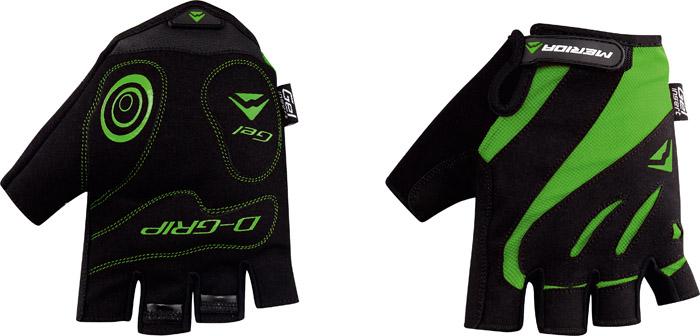 Kesztyű MERIDA COMFORT GEL rövid XL zöld/ fekete