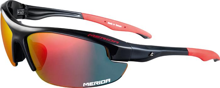 Szemüveg MERIDA fényes piros fekete - 1088