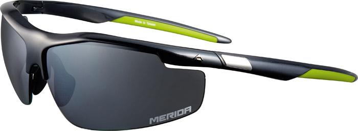 Szemüveg MERIDA RACE fényes zöld fekete, cserélhető lencse, kemény tok - 1099