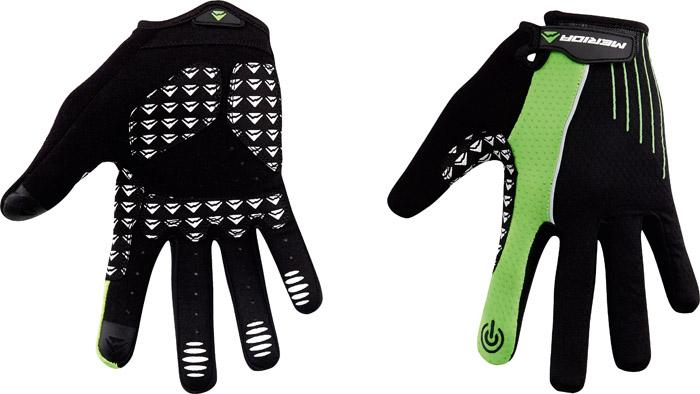 Kesztyű MERIDA LIGHT SPORT zöld/fekete (hosszú)