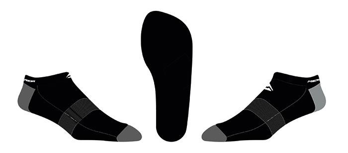 Zokni MERIDA titok fekete M (26cm)