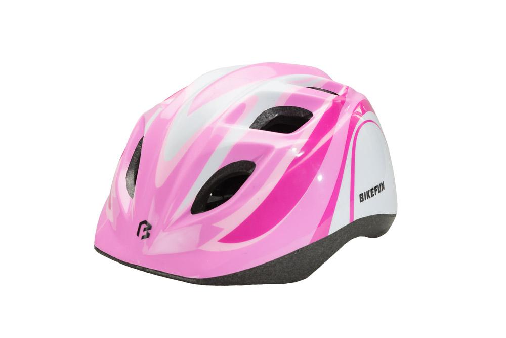 Fejvédő BIKEFUN JUNIOR pink/fehér