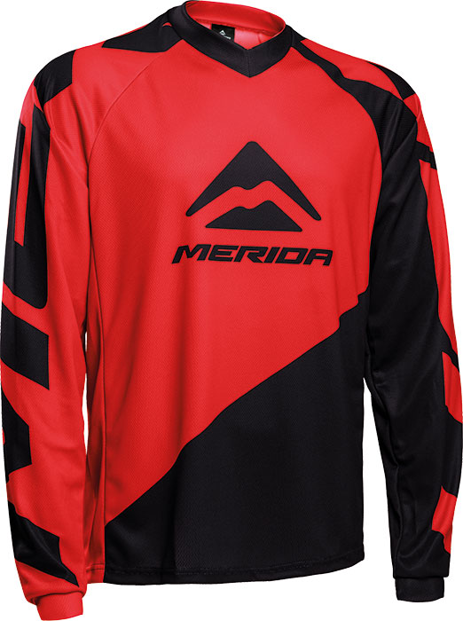 Mez MERIDA F196GR hosszú piros/fekete V nyakú Freeride Enduro