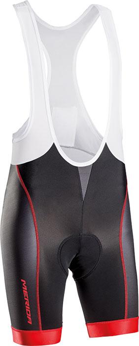 Nadrág MERIDA 278 rövid XL piros fekete/fehér - KANTÁROS