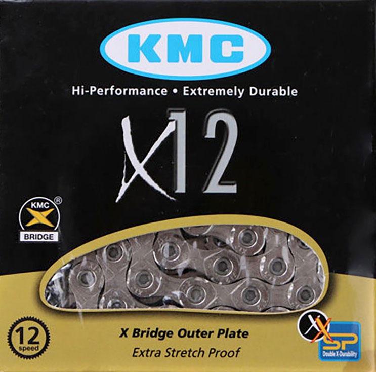 Kerékpár lánc KMC X12-1 Silver 1/2x11/128 126L