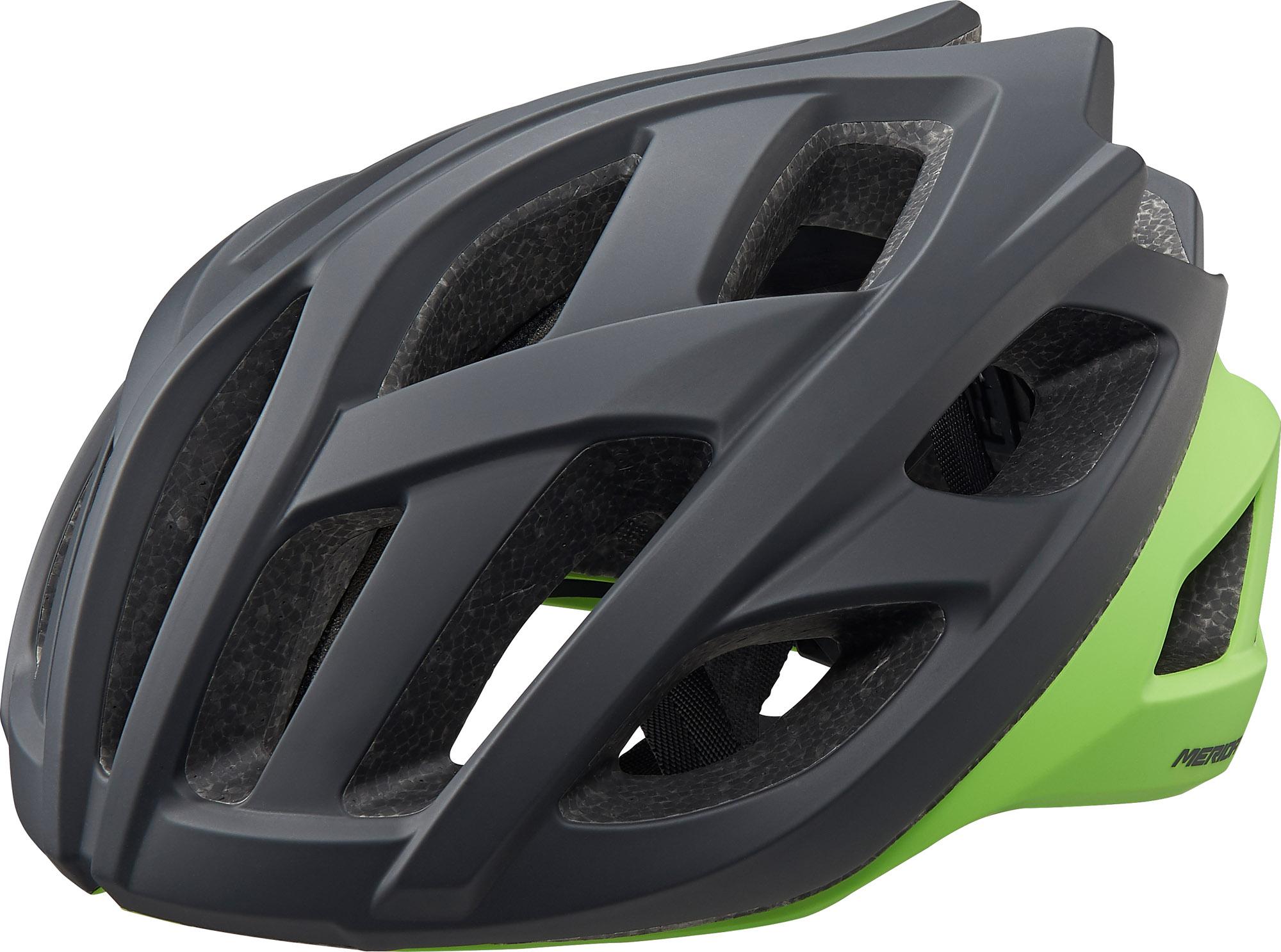 Fejvédő MERIDA ROAD RACE L fekete zöld (58-62 cm) - 8164
