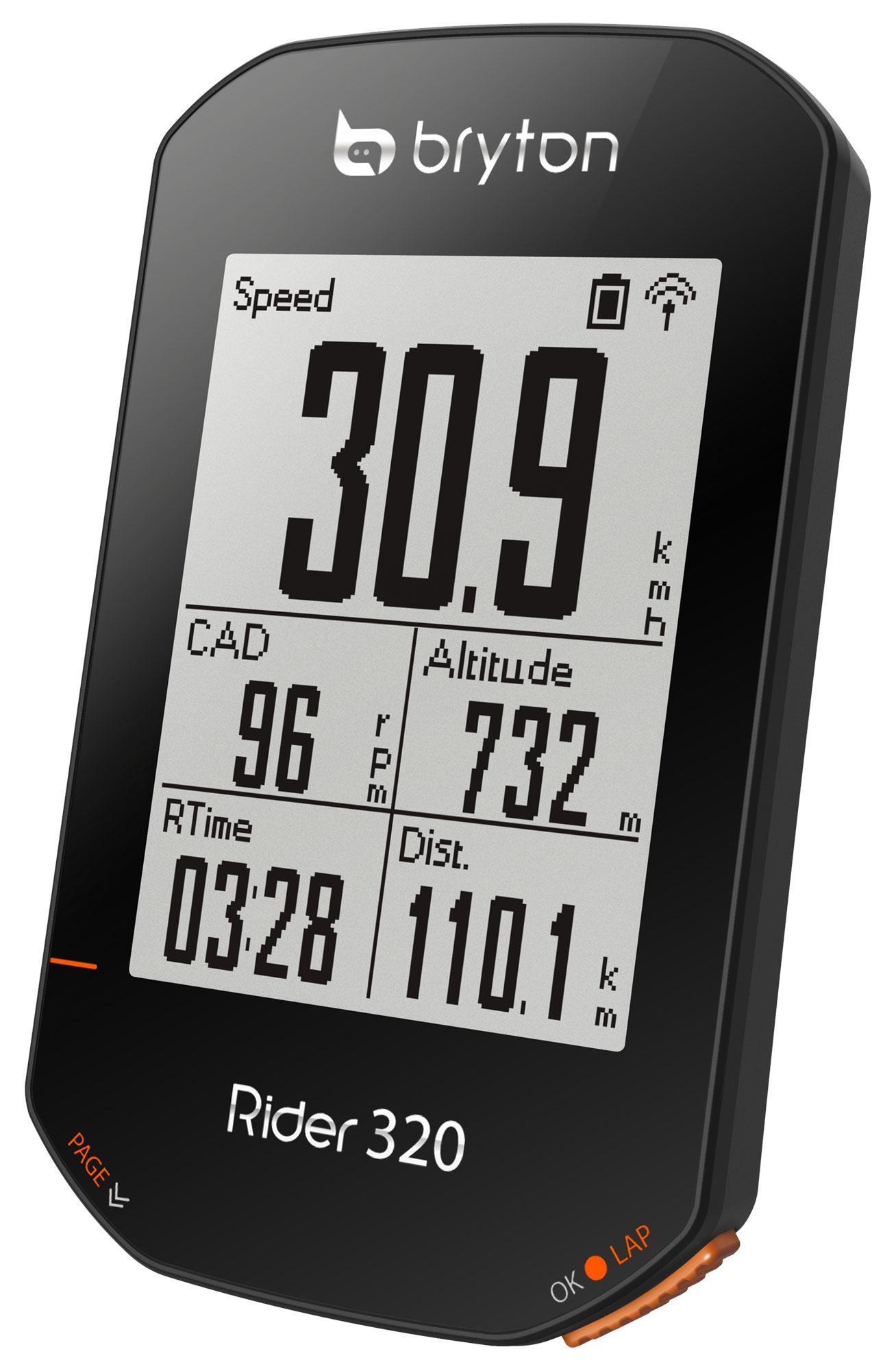 Computer BRYTON RIDER 320T GPS komputer szett (+HRM és CAD szenzor)
