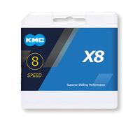 Lánc KMC X8 8 speed MTB 1/2 x 3/32 116L